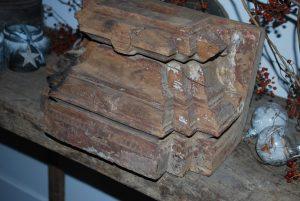 Kandelaar / houten poer