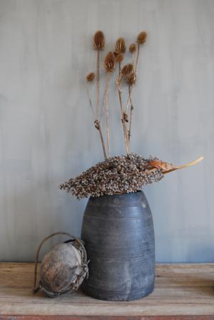 Houten pot greywash